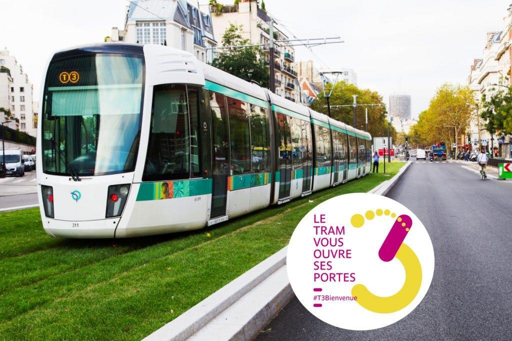 Le Tram 3b sur sa ligne