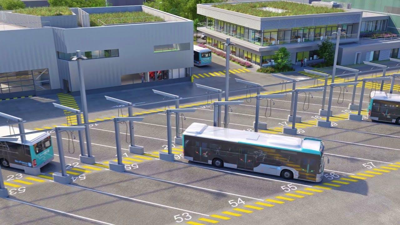 Représentation du futur centre opérationnel bus de Vaux-le-Pénil