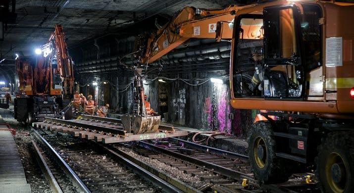 Travaux de renouvellement des voies, RER A