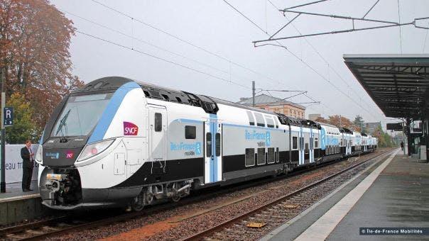 Nouveau train à bord en île-de-France