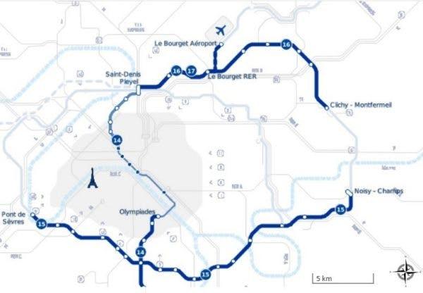 Infographie : Le plan des lignes 15, 16, 17 du Grand Paris Express