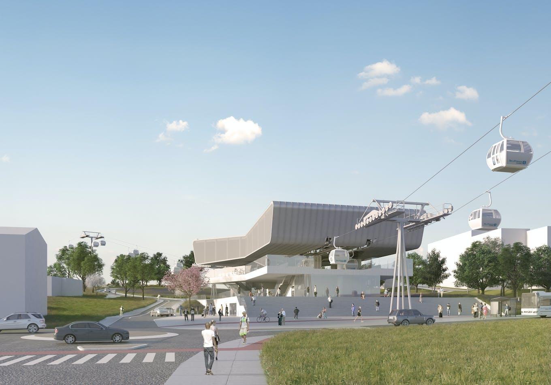 Prévisualisation de la future station Émile Zola du Câble A