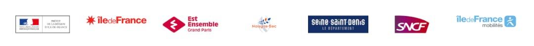 Infographie : Logos des financeurs de la gare de Noisy-le-Sec