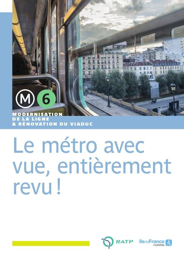 Infographie : la modernisation de la ligne 6 et la rénovation du viaduc.